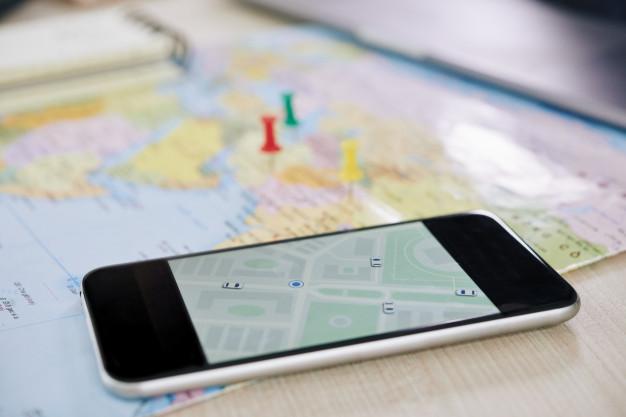 Telefon cu harta internațională